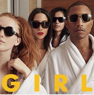 PHARRELL WILLIAMS, oggi in pre-order il nuovo album G  I  R  L in uscita per il 4 marzo