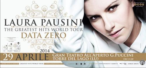 Laura Pausini il 29 aprile a Torre del Lago (Lucca)