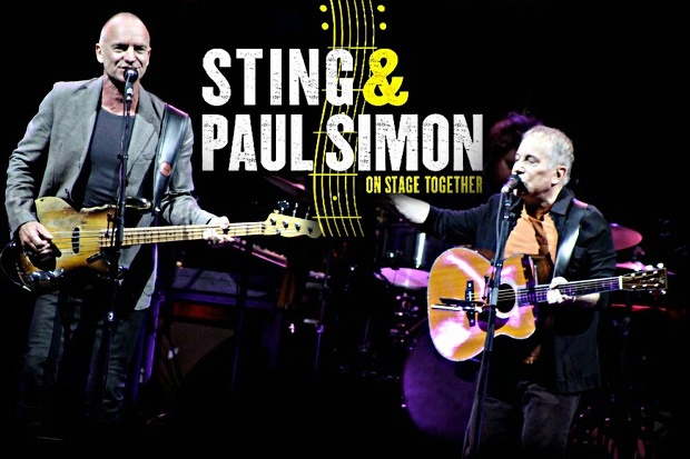 PAUL SIMON & STING live in Europa con ON STAGE TOGETHER nel 2015