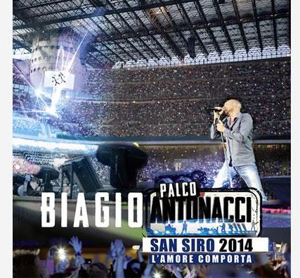 BIAGIO ANTONACCI, esce il 17 novembre il cofanetto PALCO ANTONACCI SAN SIRO 2014 - LAMORE COMPORTA