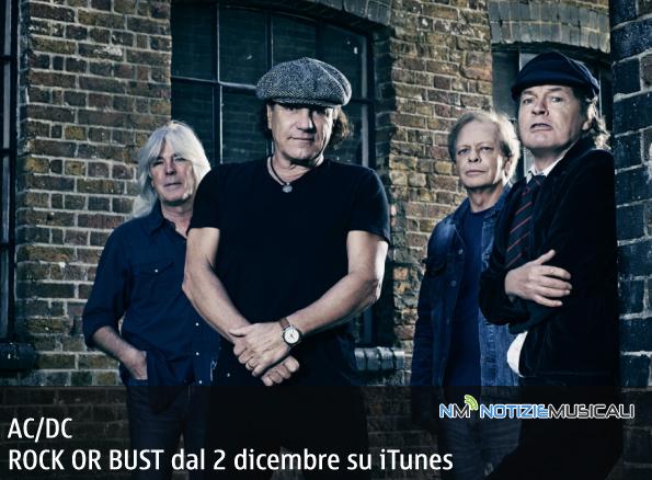 AC/DC da oggi 2 dicembre online il nuovo album ROCK OR BUST