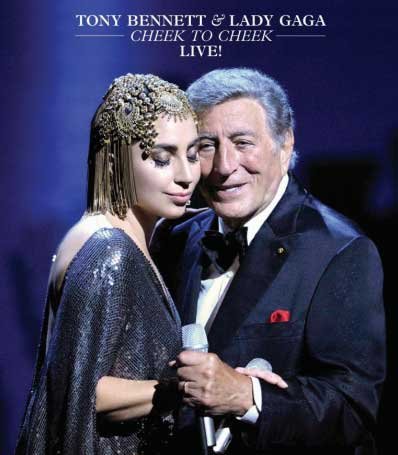 Tony Bennett e Lady Gaga il 19 gennaio il dvd e Blu-ray Cheek To Cheek LIVE!