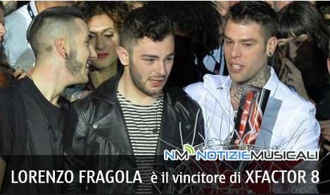 LORENZO FRAGOLA , vincitore di XFactor 8