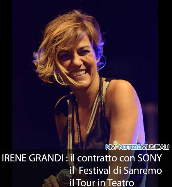 IRENE GRANDI, un 2015 ricco di tante novità