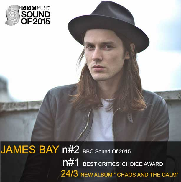 JAMES BAY il 24 marzo il primo album CHAOS AND THE CALM