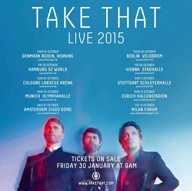 TAKE THAT il 13 ottobre LIVE a Milano