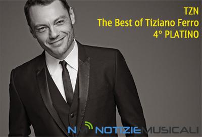 TIZIANO FERRO : 4 disco di platino per TZN