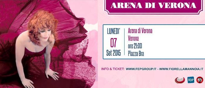FIORELLA MANNOIA 40 anni di carriera festeggiati alla Arena di Verona
