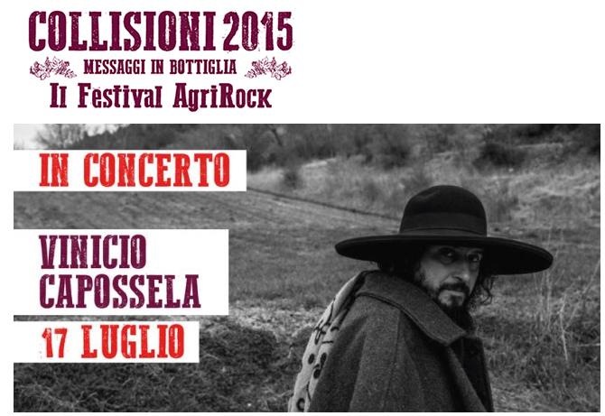 COLLISIONI 2015 al via domani 17 luglio con Vinicio Capossela