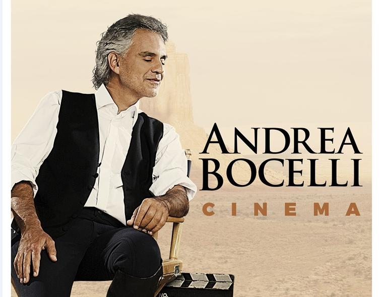 ANDREA BOCELLI il 23 ottobre esce CINEMA il quindicesimo album