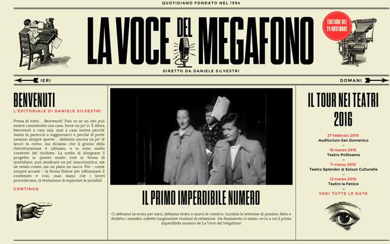LA VOCE DEL MEGAFONO il nuovo sito-giornale di DANIELE SILVESTRI