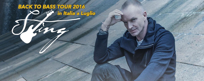 STING tre date in Italia per il suo BACK TO BASS TOUR 2016