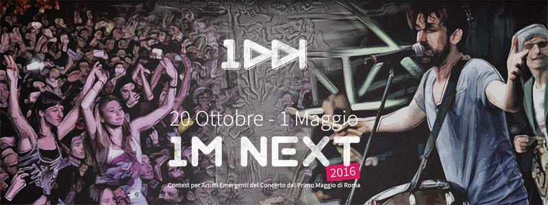 1MNext 2016 CONCERTONE PRIMOMAGGIO ROMA 2016 giuria e candidati
