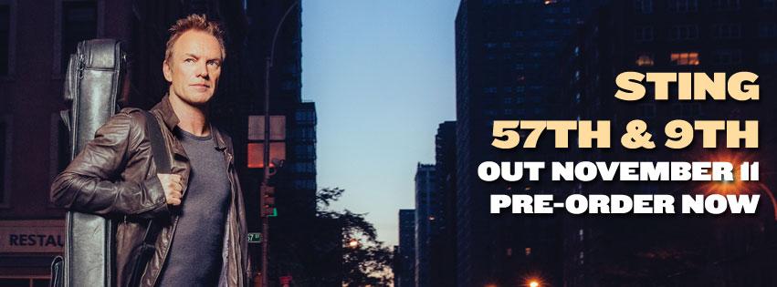 STING il nuovo album 57TH & 9TH ora in preorder