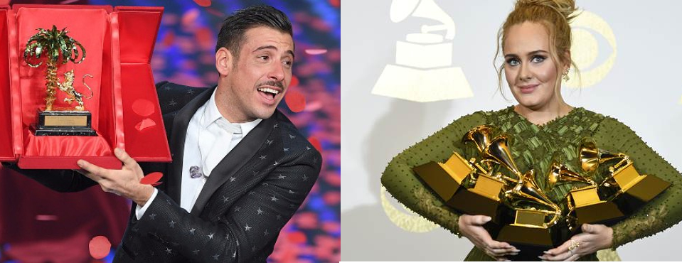 GABBANI e ADELE Sanremo come i Grammys 2017