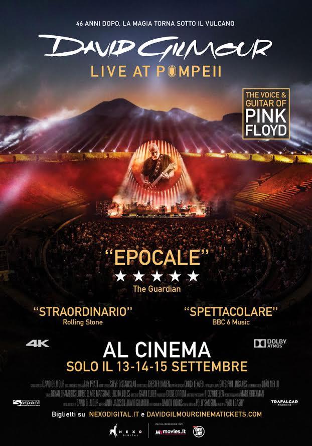 DAVID GILMOUR LIVE AT POMPEII dal 13 settembre al cinema