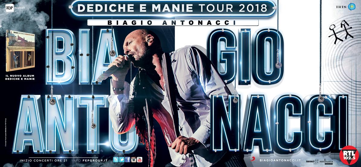 BIAGIO ANTONACCI nuove date live con DEDICHE E MANIE TOUR
