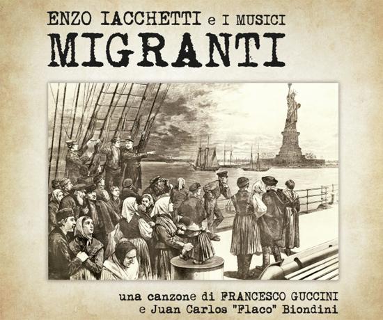 FRANCESCO GUCCINI , ENZO IACCHETTI , insieme nel nuovo brano MIGRANTI