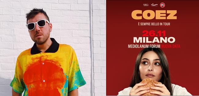 COEZ È SEMPRE BELLO IN TOUR NUOVA DATA A MILANO