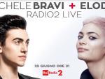 foto ELODIE E MICHELE BRAVI, INSIEME IN CONCERTO PER 'RADIO2 LIVE