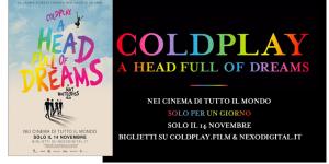 COLDPLAY : il film evento A HEAD FULL OF DREAMS nelle sale il 14 novembre